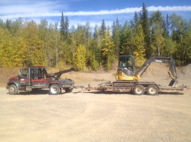 heavy equipment towing